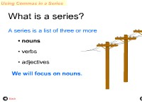 Using Commas In a Series - Nouns