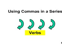 Using Commas in a Series - Verbs
