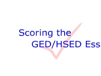 Scoring the GED/HSED Essay