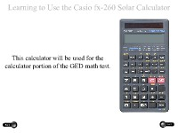 Learning to Use the Casio fx-260 Solar Calculator