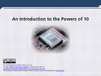 An Introduction to the Powers of 10