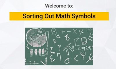 Sorting Out Math Symbols