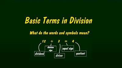 Basic Terms in Division (Screencast)
