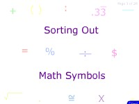 Sorting Out Math Symbols