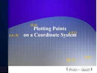 Plotting Points on a Coordinate System