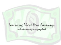 Learning About Your Earnings