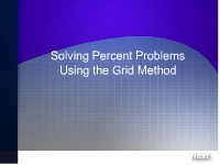 Solving Percent Problems Using the Grid Method