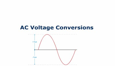 AC Voltage Conversions (Screencast)