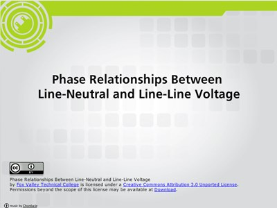 Phase Relationships Between Line-Neutral and Line-Line Voltages