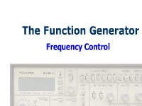 The Function Generator: Frequency Control