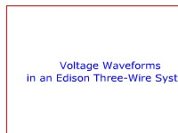 Voltage Waveforms in an Edison Three-Wire System