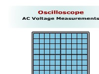 Oscilloscope AC Voltage Measurements