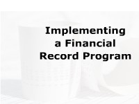 Implementing a Financial Record Program