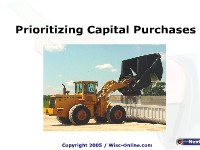 Prioritizing Capital Purchases