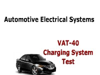 Automotive Electrical Systems VAT-40 Charging System Test