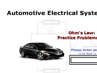 Automotive Electrical Systems: Ohm's Law Practice Problems #1