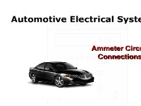 Automotive Electrical Systems: Ammeter Circuit Connections
