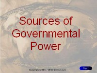 Sources of Government Power