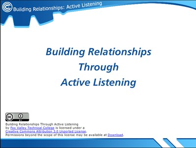 Building Relationships Through Active Listening