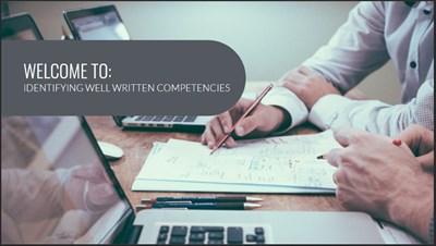 Identifying Well Written Competencies
