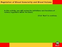 Regulators of Blood Osmolality and Blood Volume