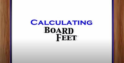 Calculating Board Feet (Screencast)