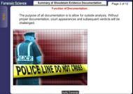 Summary of Bloodstain Evidence Documentation