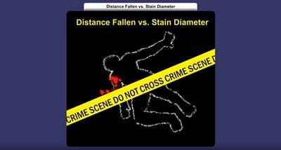 Distance Fallen vs. Stain Diameter (Screencast)