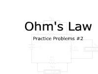 Ohm's Law Practice Problems #2
