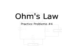 Ohm's Law Practice Problems #4