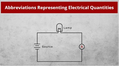 Abbreviations Representing Electrical Quantities