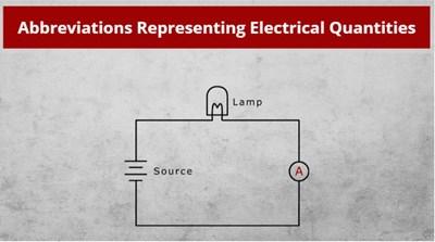 Abbreviations Representing Electrical Quantities
