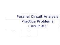Parallel Circuit Analysis Practice Problems: Circuit #3
