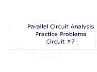 Parallel Circuit Analysis Practice Problems: Circuit #7