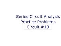 Series Circuit Analysis Practice Problems: Circuit #10