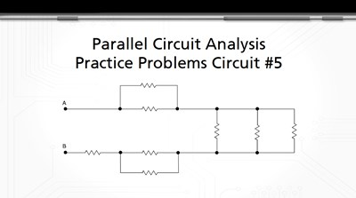 Parallel Circuit Analysis Practice Problems: Circuit #5