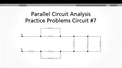 Parallel Circuit Analysis Practice Problems: Circuit #7