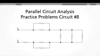 Parallel Circuit Analysis Practice Problems: Circuit #8