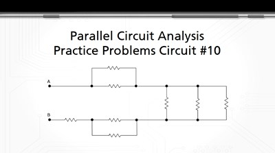 Parallel Circuit Analysis Practice Problems: Circuit #10