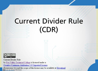 Current Divider Rule (CDR)