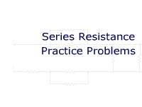 Series Resistance Practice Problems