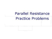 Parallel Resistance Practice Problems