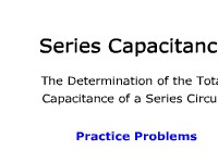 Series Capacitance: Practice Problems
