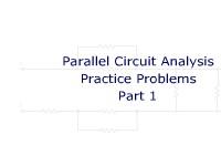 Parallel Circuit Analysis Practice Problems Part 1