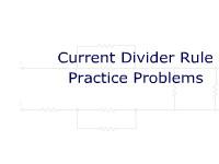 Current Divider Rule Practice Problems