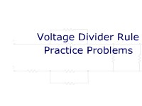 Voltage Divider Rule Practice Problems