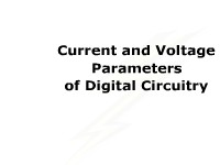 Current and Voltage Parameters of Digital Circuitry