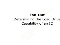 Fan-Out: Determining the Load Drive Capability of an IC