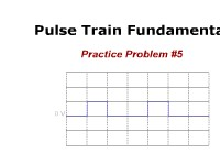 Pulse Train Fundamentals: Practice Problem #5