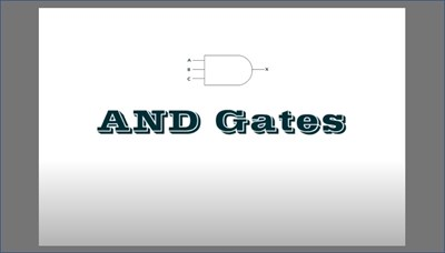 AND Gates (Screencast)